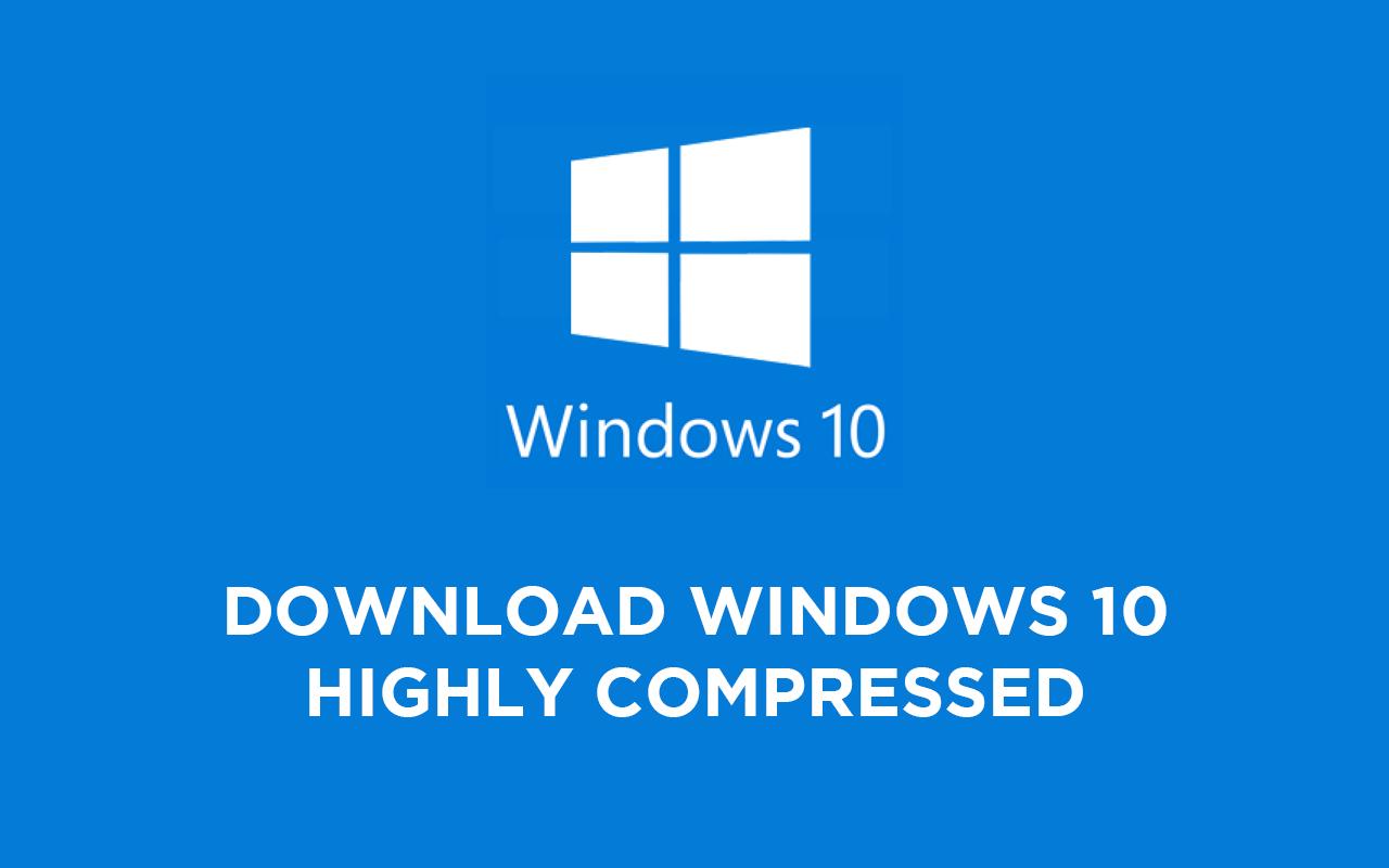 Windows 10 Максимально сжато до 10 мб!